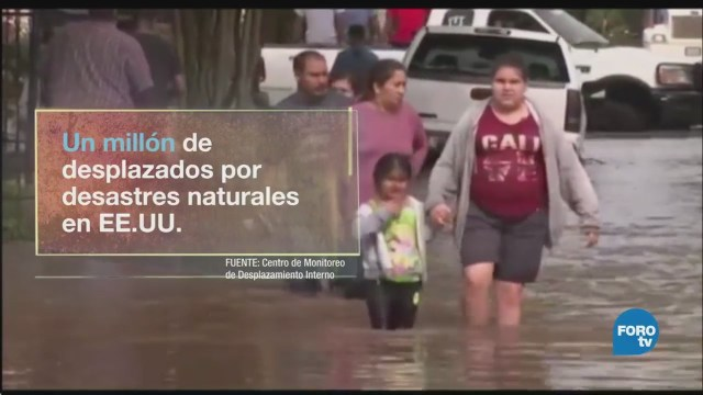 Desplazados en EU por desastres naturales