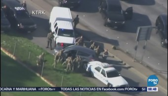 Detienen a conductor tras persecución en Texas, Estados Unidos