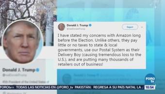 Donald Trump arremete contra Amazon en redes sociales