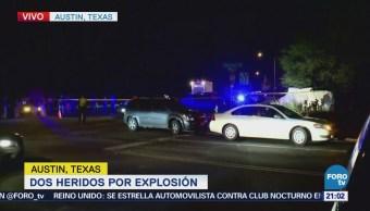 Dos heridos por explosión en Austin Texas