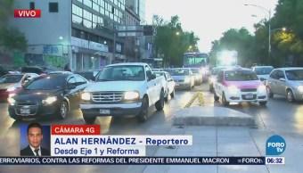 Eje 1 y Paseo de la Reforma presentan buen avance vehicular