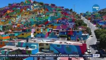 El mural más grande del mundo en Pachuca, Hidalgo