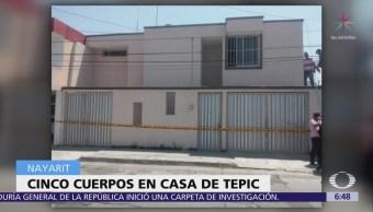 Encuentran cinco cadáveres dentro de una casa en Tepic, Nayarit