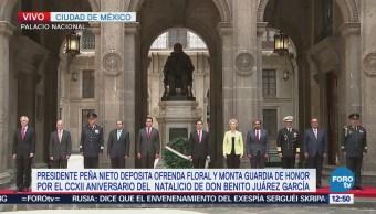 EPN encabeza homenaje del 212 aniversario del natalicio de Benito Juárez