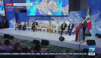 EPN inaugura la Cumbre Mundial del Océano 2018
