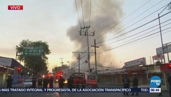 Controlan incendio en Mercado Hidalgo, colonia Doctores, CDMX