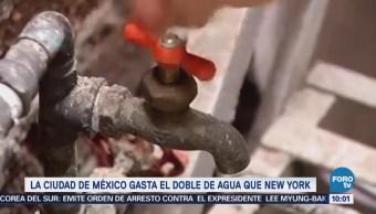 Extra Extra: La CDMX gasta el doble de agua que New York