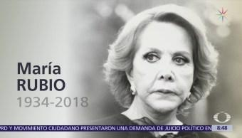 Fallece la actriz mexicana María Rubio