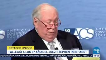 Falleció el juez Stephen Reinhardt en Estados Unidos