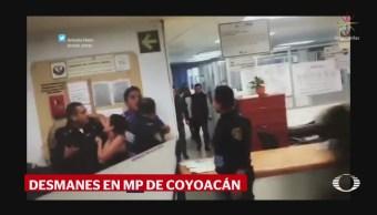 Familiares de detenidos causan destrozos en Fiscalía de Coyoacán