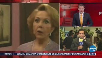 Familiares y amigos se despiden de la primera actriz María Rubio