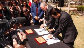 Firman convenio alcaldes de El Paso y Cd. Juárez