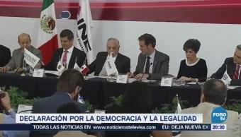 Firman en el INE declaración por la democracia y legalidad