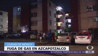 Fuga de gas sorprende a habitantes de la delegación Azcapotzalco, CDMX