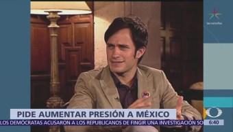 Gael García pide a ONU aumentar presión contra México para terminar impunidad