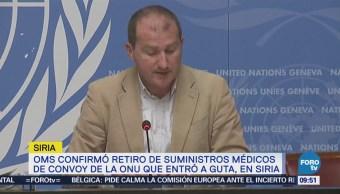Gobierno sirio retira suministros médicos enviados a Guta, dice OMS