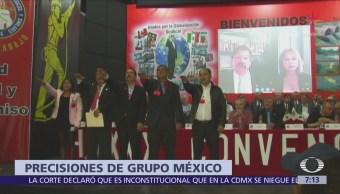 Grupo México hace precisiones sobre laudo a favor de trabajadores mineros