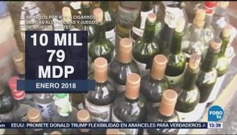 IEPS a cigarros y alcohol aporta 10,079 mdp al erario público