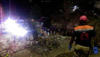 Deslave durante jaripeo deja dos lesionados en Tlapa, Guerrero
