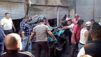 Se registra incendio en mercado Tacuba, en la Ciudad de México