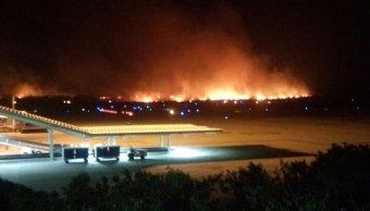 se incendian pastizales limites aeropuerto chiapas