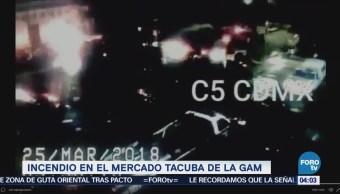 Incendio consume mercado Tacuba, en la Miguel Hidalgo