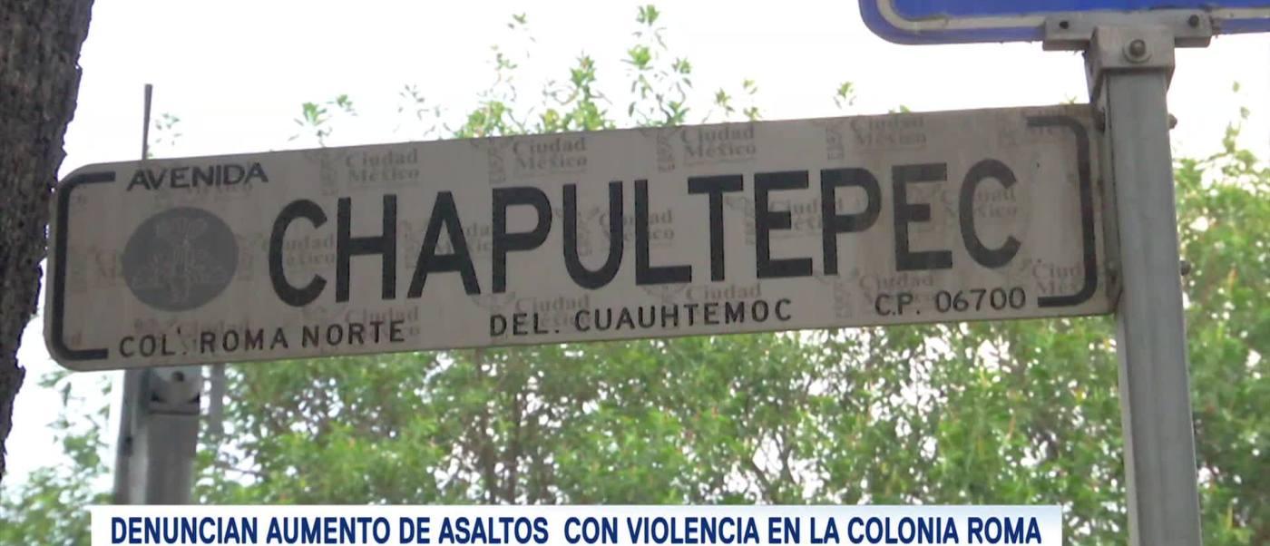 Incrementan robos en Chapultepec y Mérida, CDMX