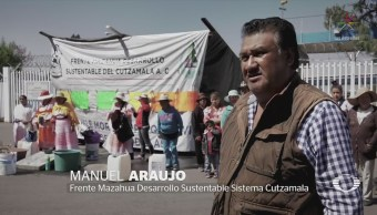 Indígenas mazahuas exigen agua