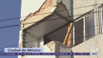 Inicia demolición en edificio ubicado en Paseo Nuevo 65, CDMX