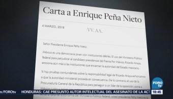 Intelectuales mandan una carta para Peña Nieto