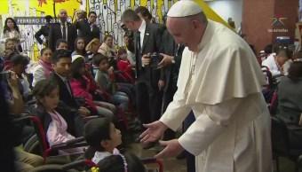 Angélica Rivera y cuatro niños mexicanos visitan al papa