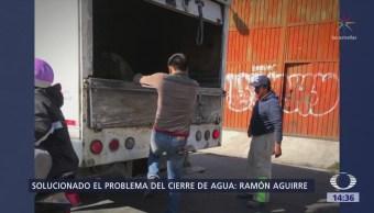 Aguirre: Solucionado el cierre deliberado de válvulas de agua