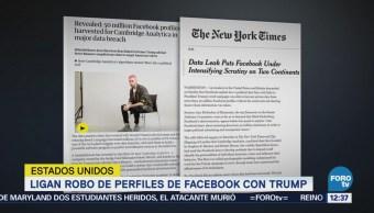 Ligan robo de perfiles de Facebook con Trump
