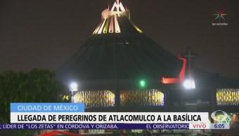 Llegan peregrinos de Atlacomulco, Edomex, a la Basílica de Guadalupe