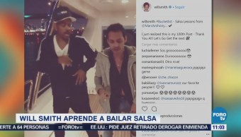 #LoEspectaculardeME: Will Smith aprende a bailar salsa