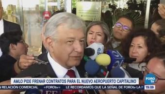 López Obrador analiza interponer amparos contra contratos del aeropuerto