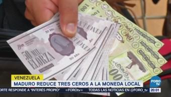 Maduro ordena eliminar tres ceros a la moneda
