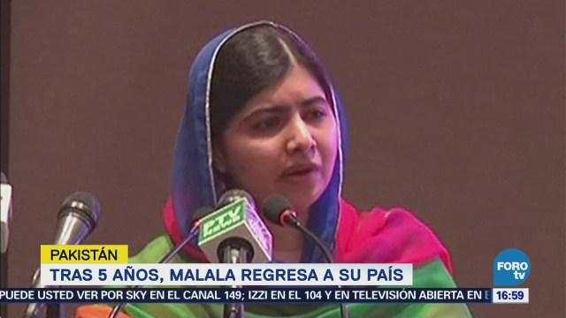 Malala Yousafzai regresa a Pakistán