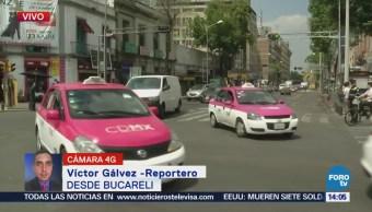 Manifestantes Bloquean Avenida Bucareli Cdmx