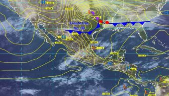 Frente frío 38 provocará tormentas y fuertes vientos en la noreste y oriente de México