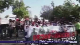 Marchan en Guadalajara por estudiantes de cine desaparecidos