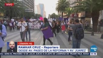 Marchan en la CDMX para conmemoran Día Internacional de la Mujer
