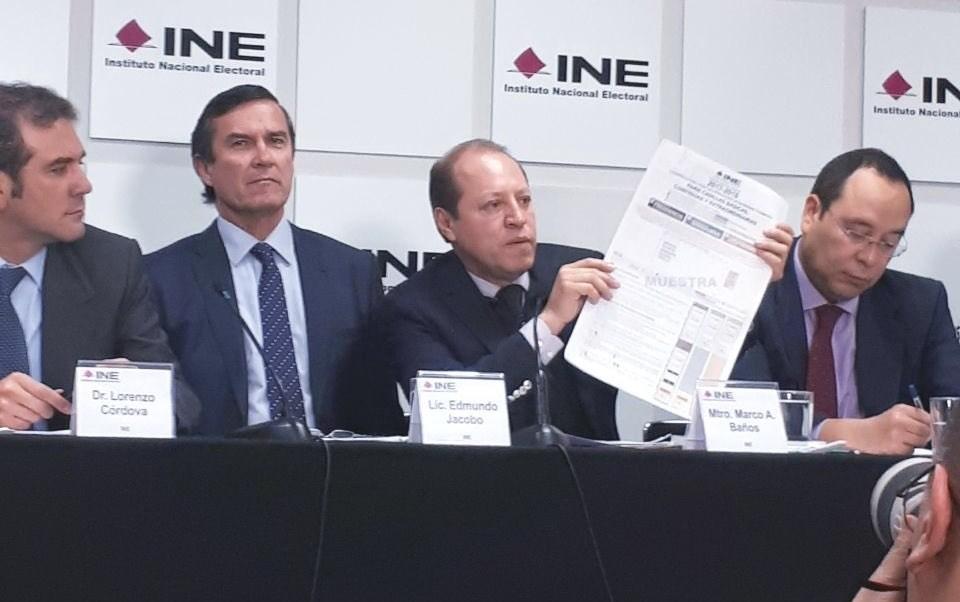 INE aprueba cambios al diseño de las boletas electorales