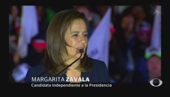 Zavala inicio su campaña en el Ángel de la Independencia