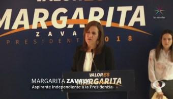 Margarita Zavala presentará denuncia contra auxiliares responsables de firmas simuladas