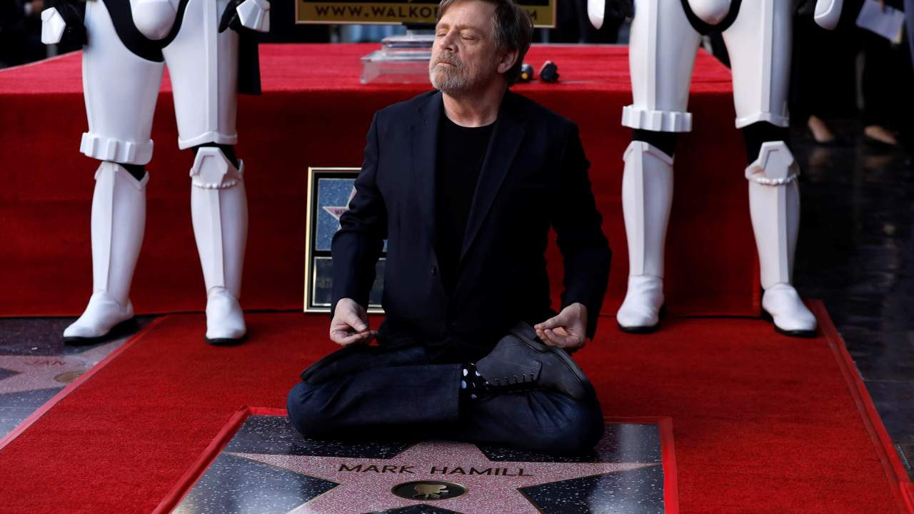 Mark Hamill recibe estrella paseo fama Hollywood