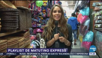 Fernanda Santos presenta El Playlist de la semana de Matutino Express