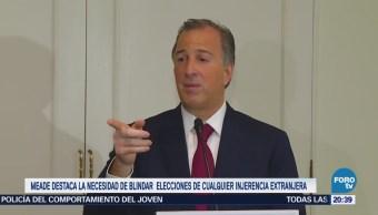 Meade destaca la necesidad de blindar elecciones de injerencia extranjera