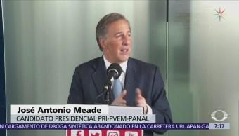 Meade dice que si AMLO no va a debates de intercampañas, él tampoco