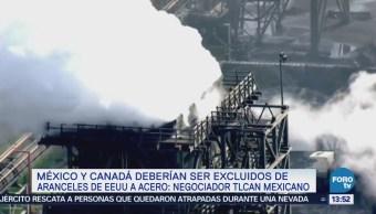 México Canadá Quedar Fuera Aranceles Acero